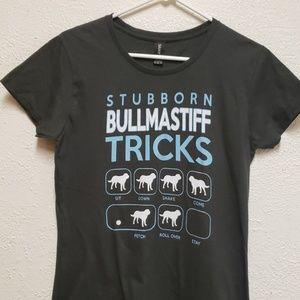 Anvil Stubborn Bullmastiff Tricks T-Shirt